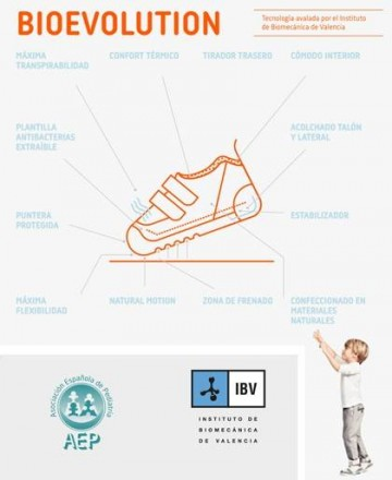 Zapato colegial Biomecanics 161126 azul marino
