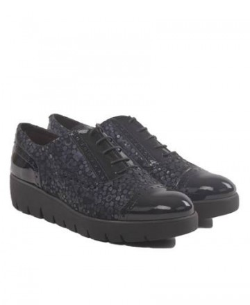 Navy blue shoes with print and glitter KISSIA 692