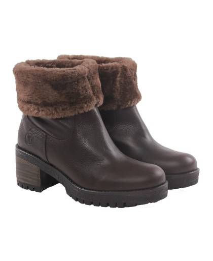 Colonel Tapiocca C270-brown fur lining boot