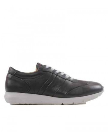 Black leather sneakers shoes Catchalot 9220-004