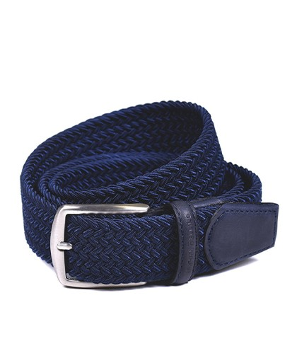 Braided belt Miguel Bellido 394/35 Blue
