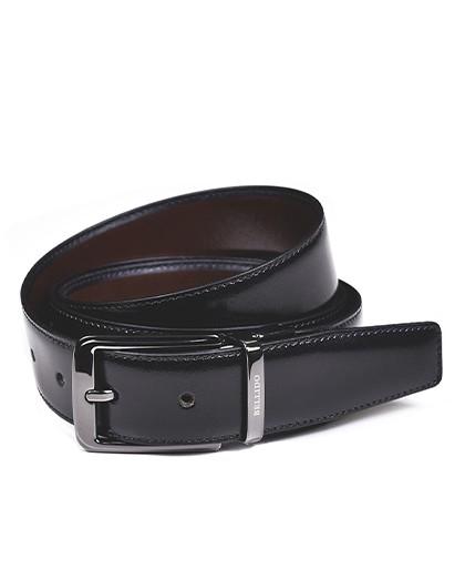 Cinturon para hombre en color negro y burdeos Caracteristicas Not assigned zapato de estilo casual suela exterior piel e interi