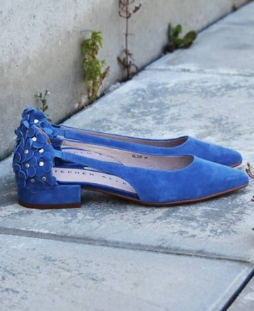 Heeled ballerinas Stephen Allen K19123-K2 navy blue