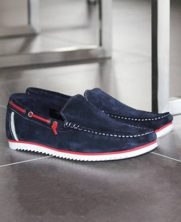 Catchalot Fat 2012 Navy Slip-On Boat Shoes