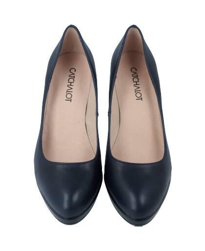 Zapatos de salon para mujer en color azul marino Caracteristicas tacon 8 cm y plataforma de 2 cm zapato de vestir suela de goma