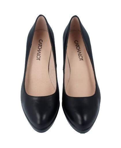 Zapatos de salon para mujer en color negro Caracteristicas tacon 8 cm y plataforma de 2 cm zapato de vestir suela de goma termo