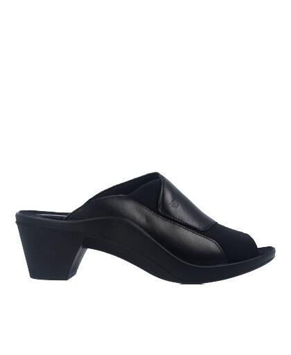 Sandalias para mujer en color negro Caracteristicas tacon 5 cm zapato de estilo casual suela de goma termoplastica exterior pie