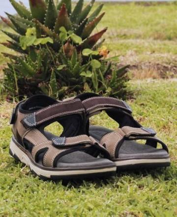 Catchalot Sandalias de piel Traveris 4345 marrón