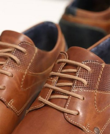 Joseli J4897-TV49 leather lace-up casual shoes