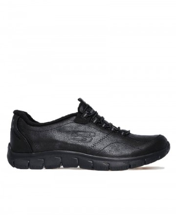 Skechers Relaxit Fit Empire flat trainers black 12394