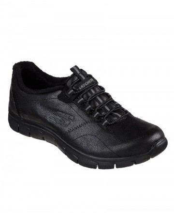 Catchalot Skechers Relaxit Fit Empire flat trainers black 12394