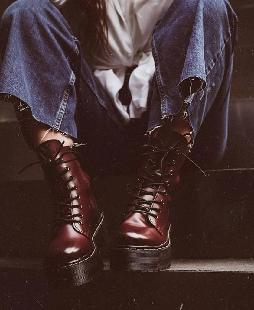 Burgundy Coolway Cardy Boots