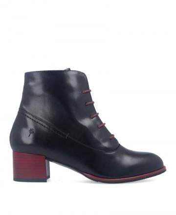 Burgundy heel ankle boot Alma de Candela 281