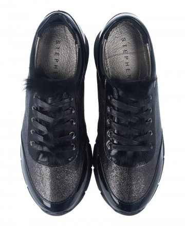 Catchalot Lace-up sneakers Stephen Allen 10833-C2 black