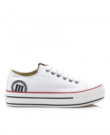 women shoes -  Mustang Bigger 69423 canvas trainers