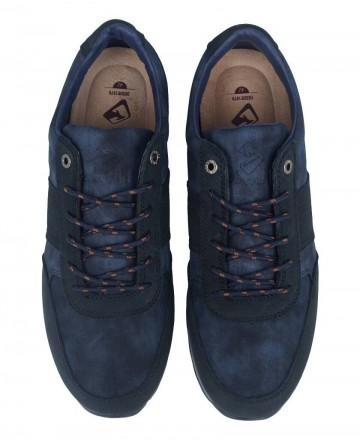 Navy blue leather sneakers for men Kangaroos 7515