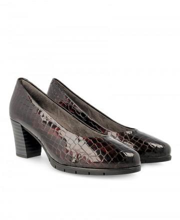 Zapatos de salón en coco Pitillos 5761 burdeos