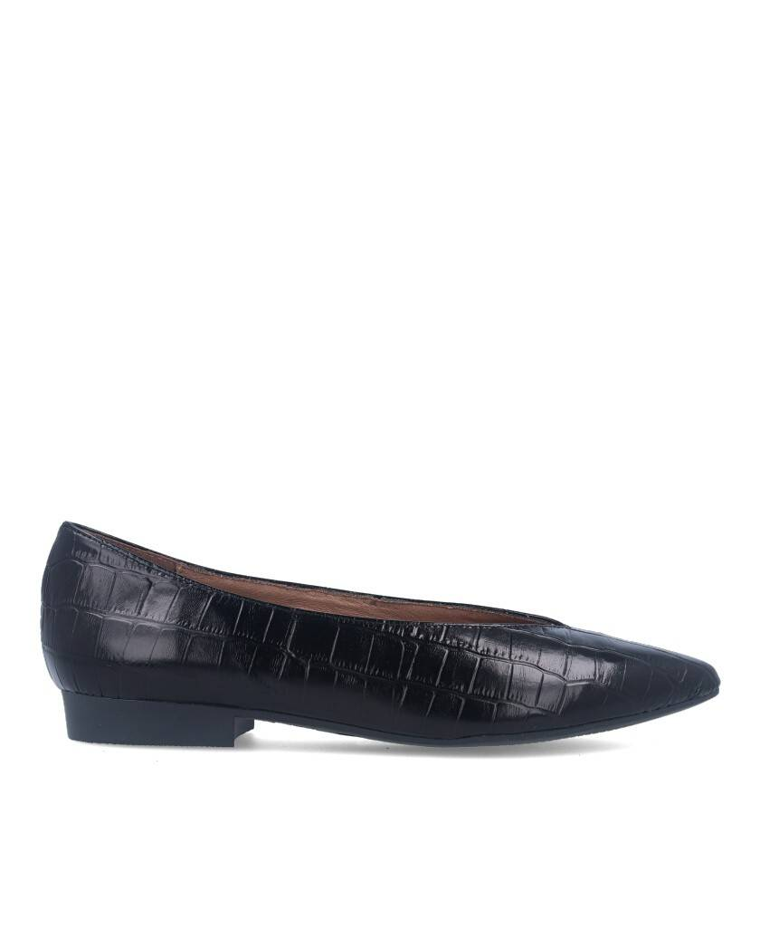 Zapatos tipo bailarina para mujer en color negro Caracteristicas tacon 1 cm zapato de estilo casual suela de goma termoplastica