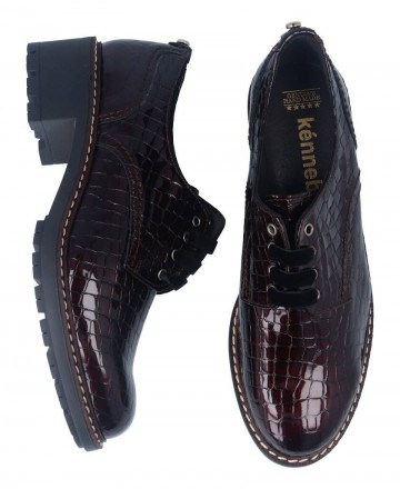 Kennebec 7044 burgundy low-heeled shoes