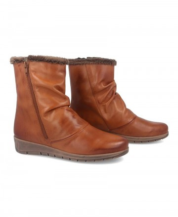 Flat leather boots Andares 206248