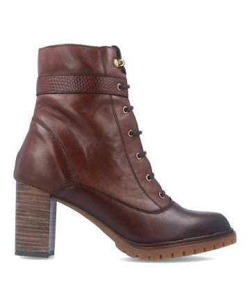 Tambi Ronda Brown Leather Ankle Boots