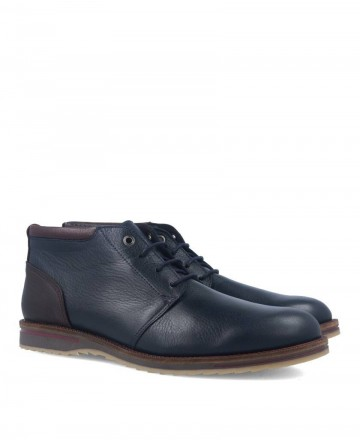 Navy blue men's ankle boot with contrasting heel Kennebec 4049