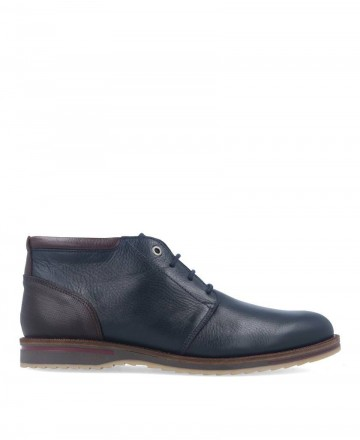 Catchalot Navy blue men's ankle boot with contrasting heel Kennebec 4049
