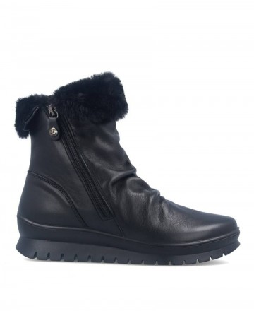 Flat boots with winter lining in black color Imac 408030