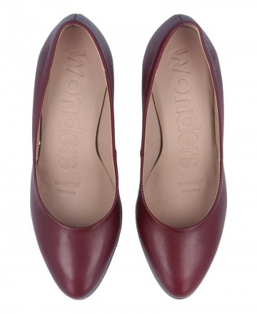 Catchalot Wonders M-1973 Burgundy Heeled Shoes