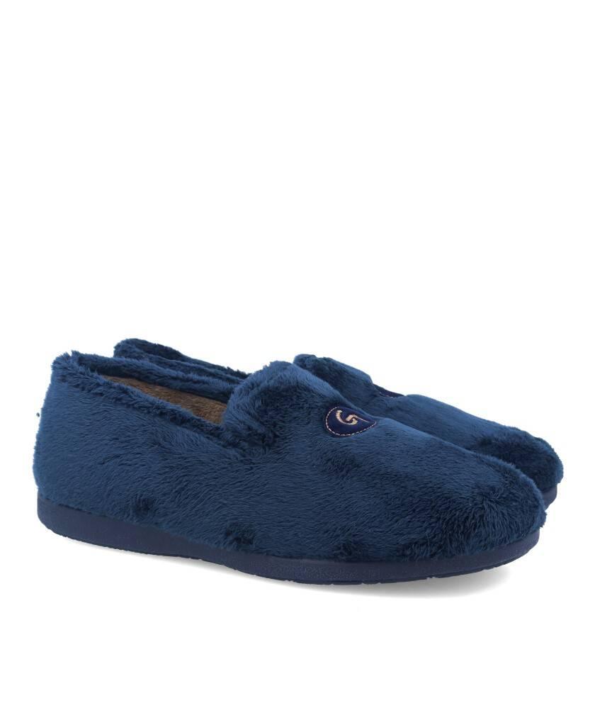 Zapatillas para estar por casa para hombre en color azul marino Caracteristicas cerrada altura de piso 2 cm Zapatilas de comoda