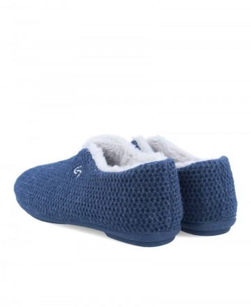 House slippers closed in blue Garzon 5821.291