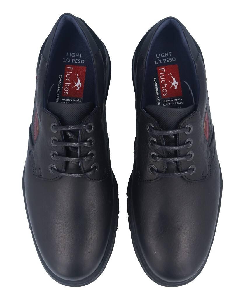 Zapatos de para hombre en color negro Caracteristicas con cordones altura de piso 3 cm piso extra light exterior piel e interio