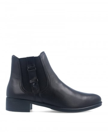 Zapatos Mujer -  Botines planos negros Myers L046 W13108-EA