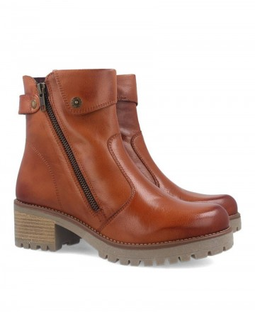 Leather booties Andares 801300
