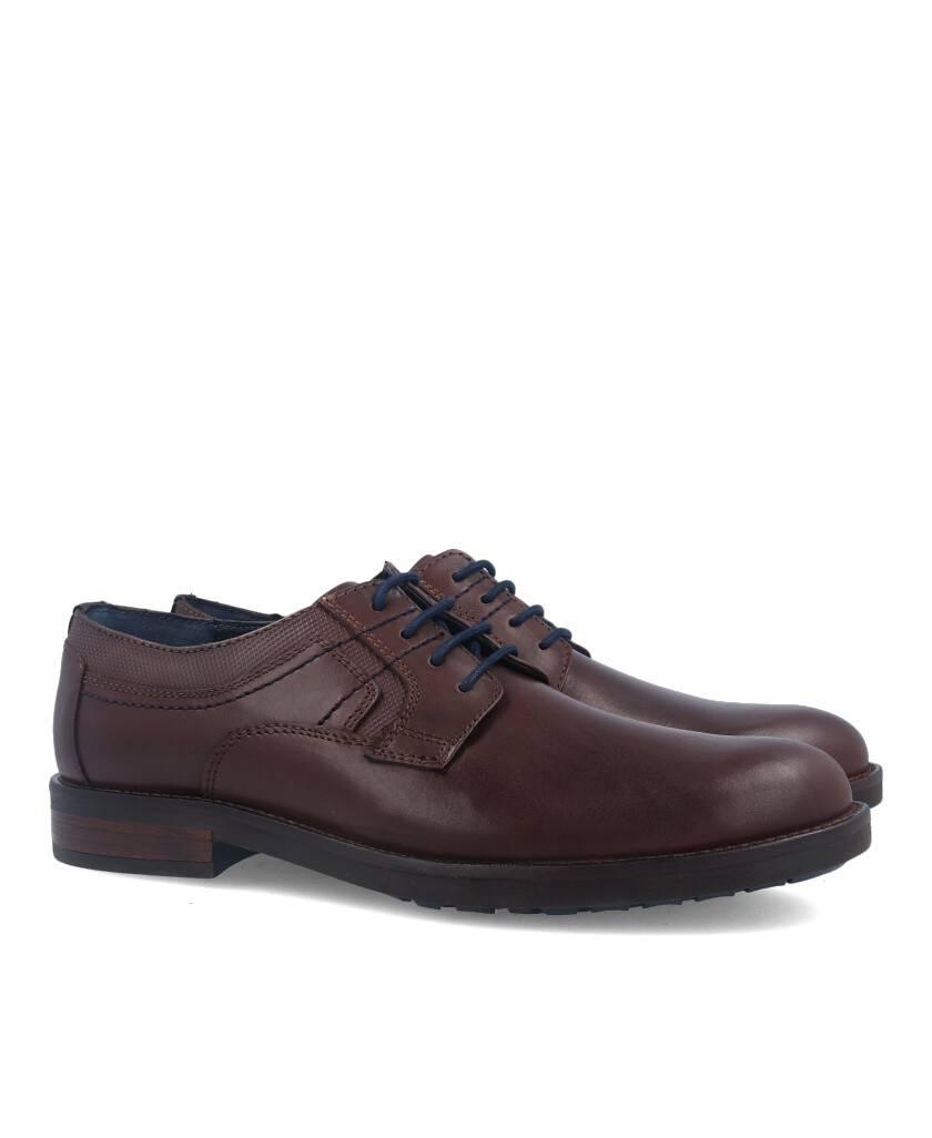 Zapatos para hombre en color marron Caracteristicas con cordones tacon 3 cm zapato de estilo casual suela de goma exterior piel