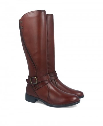 Myers brown high boots L046 W13107-B