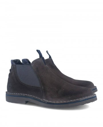 Catchalot 6050 Gray suede chelsea boot
