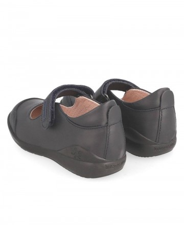 Zapato colegial niña con velcro Biomecanics 181121 azul marino