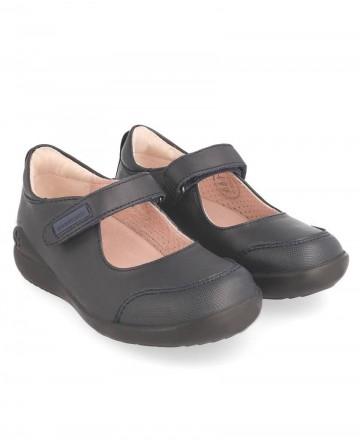 Catchalot Zapato colegial niña con velcro Biomecanics 181121 azul marino