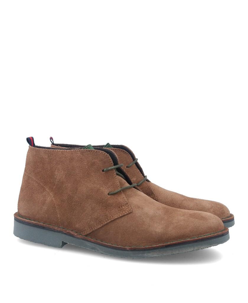 Camel suede safari boots