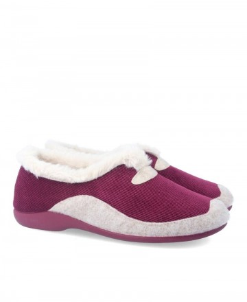 Garzon 7950.236 Burgundy House Slippers