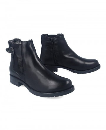 Catchalot Flat leather ankle boots Traveris IB1859