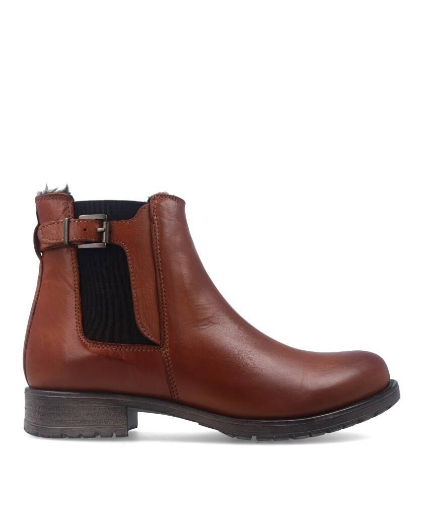 Flat leather booty Traveris IB1859