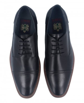 Zapatos negro de hombre cómodos Hobbs MB51802