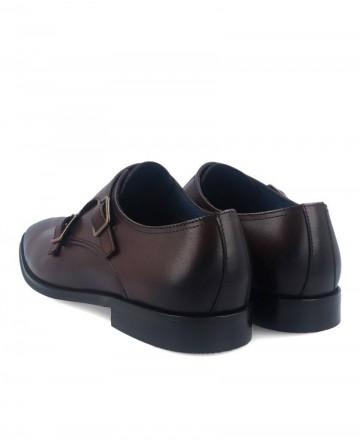 Zapatos doble hebilla de hombre marrón Hobbs MA067203-14609