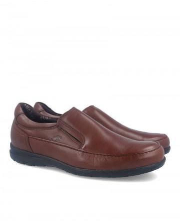 Zapatos planos sin cordones Fluchos Luca marrones 8499