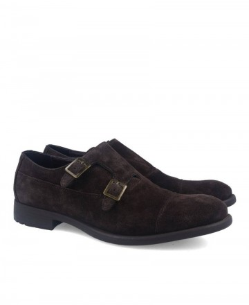 Hobbs MA04301Y-08 brown men's suede shoes