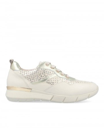 Stephen Allen 10833-L7 gold leather sneakers