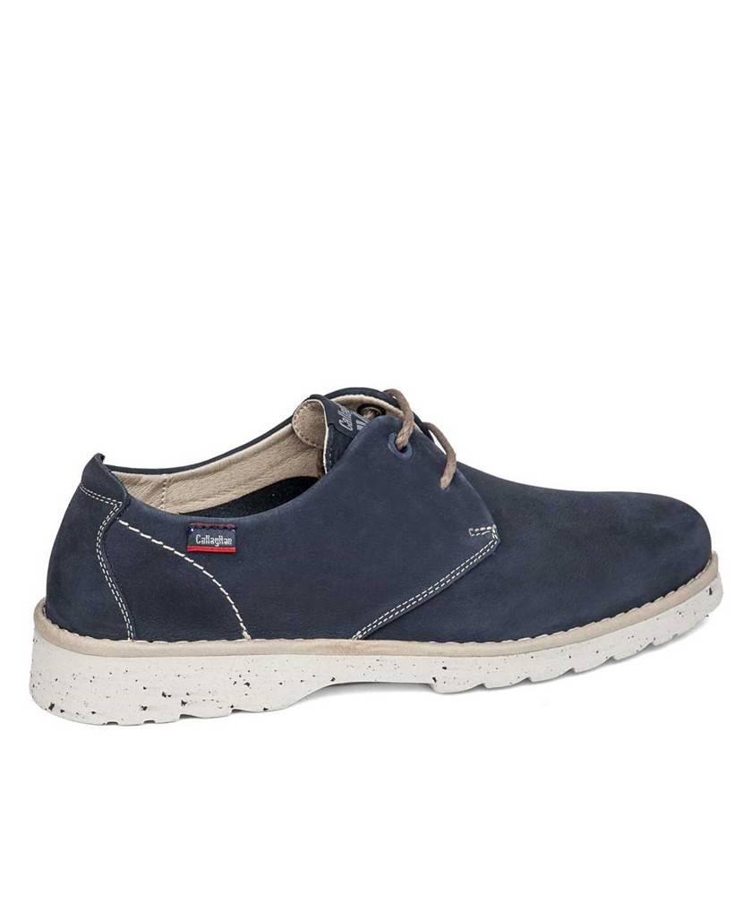 Zapatos de para hombre en color azul marino Caracteristicas con cordones altura de piso 3 cm piso extra light exterior piel de