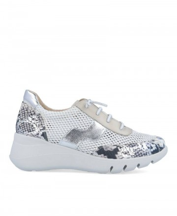 Traveris 125/1522 animal print leather sneakers